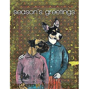 Seasons Greetings-holiday Dogs Card Set