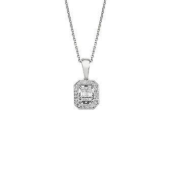Collier de diamants Baguette