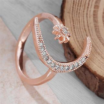 Fashion Ring Moon Star Open Finger Adjustable  Women Girls Jewelry Ring