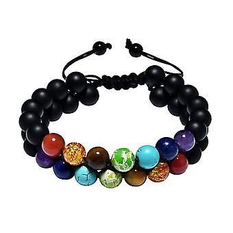 7 Chakra Double Layered Bracelet Women Jewelry