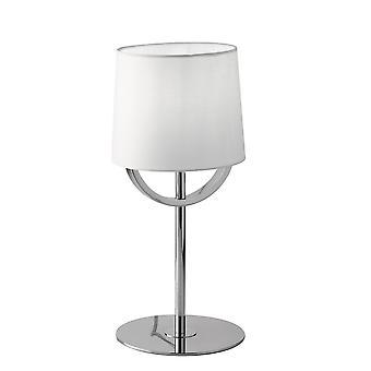 Europe Astoria - Bordslampa med skugga, Krom, Vit, E27