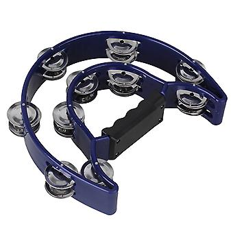 40 Jingles Blue Plastic Double Bell Music Tambourine Musical Hand Percussion