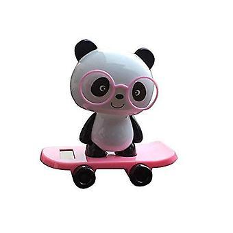 Cute Solar Powered Dancing Panda Car Ornament