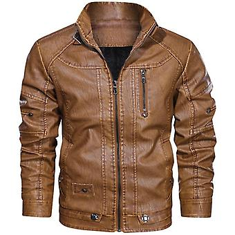 Leather Rider Pu Jacket, Men Casual Outwear Coat