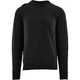 MA.STRUM Black Core Crew Sweatshirt
