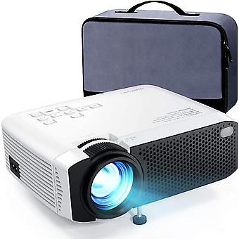 Mini Video Projector Portable 5500 Lumens Built-in Dual Speakers Home Theater
