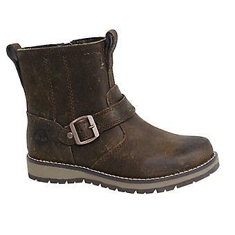 تيمبرلاند كيدرهيل الجانب الرمز البريدي حتى براون الجلود أحذية الشباب A19XG B32C