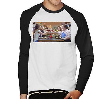 Morsiusneidot Morsiusillallinen Juhla Miehet's Baseball Pitkähihainen T-paita