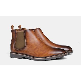 Mode Bekväma Läder Chelsea Boots