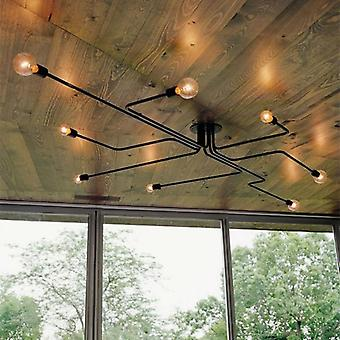 Vintage Iron Ceiling Lamp-multiple Metal Rod Chandelier