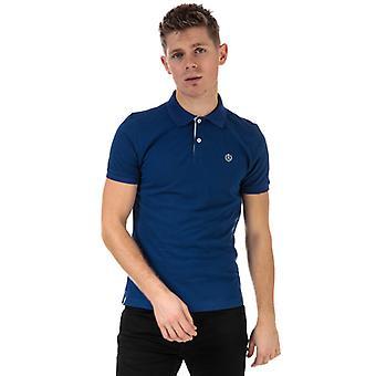 Men's Henri Lloyd Signature Piquet Polo Shirt in Blue