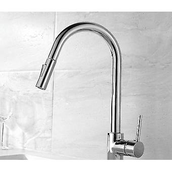 Pull Out Black Sensor Kitchen Faucets