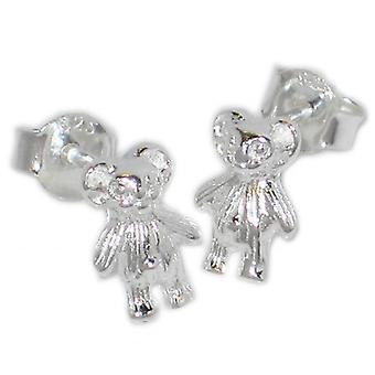 Teddybeer Teddybeer Sterling Silver Stud Oorbellen .925 X 1 Pair