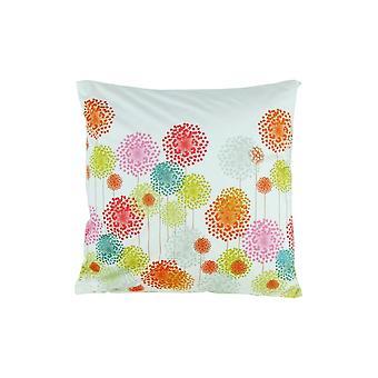 Oreiller d'accent de tissu avec le modèle floral, multicolore