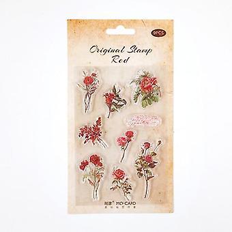 Inspiration Flower Shop Transparent Silicone Seal Diy Craft Rubber Stamps