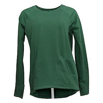 Zuda Women's Ultrasoft Long Sleeve Sweatshirt W/ Pockets Green A371977