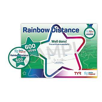 ASA zwemmen Engeland Rainbow afstand zwemmen Award - 600M
