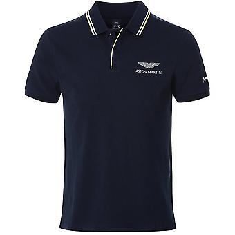 Hackett Jacquard Tipped AMR Polo Shirt