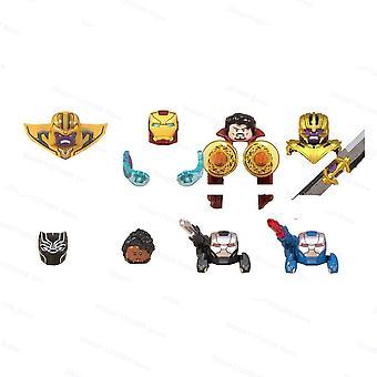 8pcs Thanos Iron Man Series Assemble Building Block