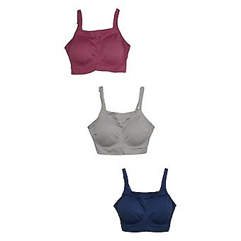 Breezies One Seamless Square Neck Bralette Set of 3 Purple A382552