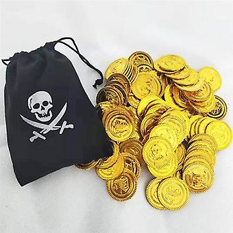Plastic Party Gold Coins Halloween