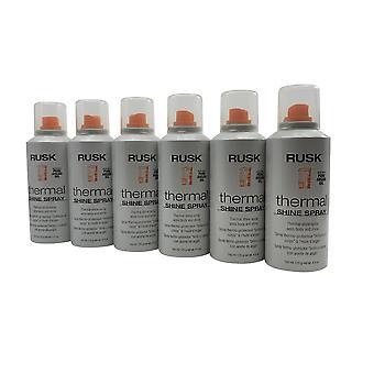 Rusk Thermal Shine Spray Argan Oil Body & Shine 4.4 OZ(Pack of 6)