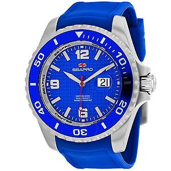 Seapro Abyss 2000M Diver Watch Quartz Blue Dial Men's Watch SP0742