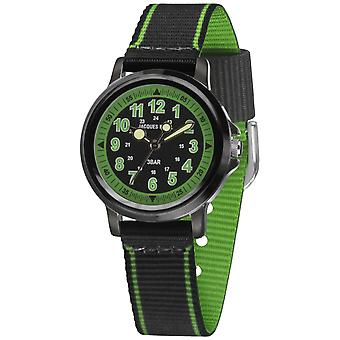 JACQUES FAREL Kids Wristwatch Analog Quartz Boys Textile Strap KSB 0342