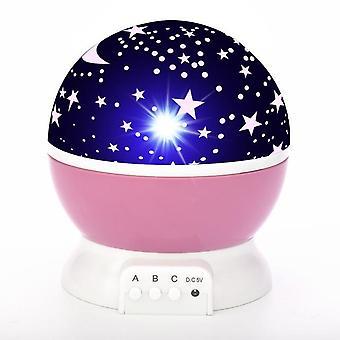 Звезда проектор лампы детей спальня привела ночь свет детская лампа декора вращающейся звездной детской луны галактики проектор на стол лампы