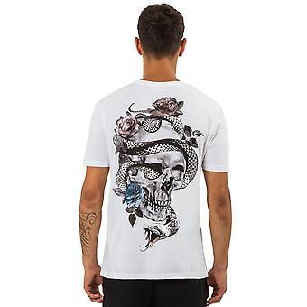 Religion 11bssn03 Snake Skull Graphic Back Logo Print T-shirt