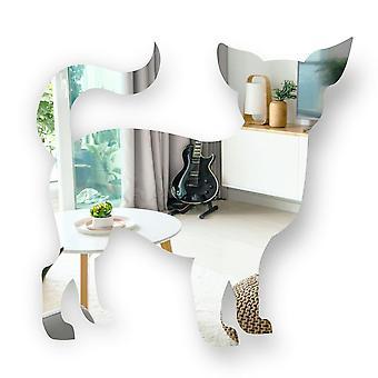 Chihuahua in piedi cane acrilico specchio