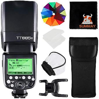 HanFei TT685C TTL 2.4G Wireless Blitz GN60 1/8000 HSS Blitzgerät Aufsteckblitz Speedlite