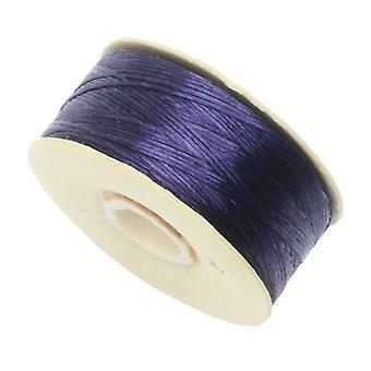 NYMO Nylon Beading Thread Size D for Delica Beads - Dark Purple 64YD (58 Meters)