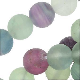Dakota Stones Gemstone Beads, Fluorite, Matte Round 7.5mm, 8 Inch Strand