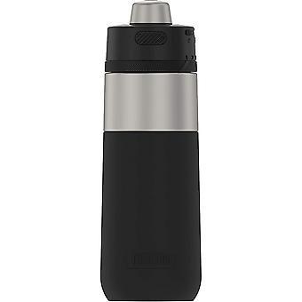 Termos 18 oz Guardian vannflaske i rustfritt stål - matt stål / espresso svart