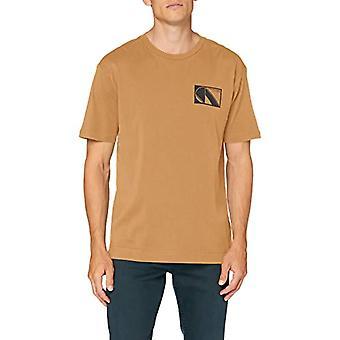Scotch &Soda Club Nomade Camiseta básica tee, Camel 0619, L Man