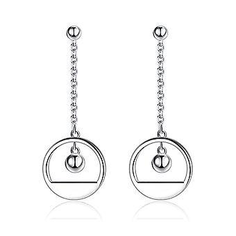 Gemshadow women's silver Sterling 925 geometric drop earrings