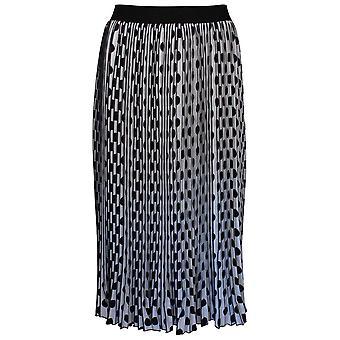 Frank Lyman Pleated Black & White Polka Dot Long Skirt