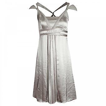 Apanage Sleeveless Pleat Detail Silky Dress