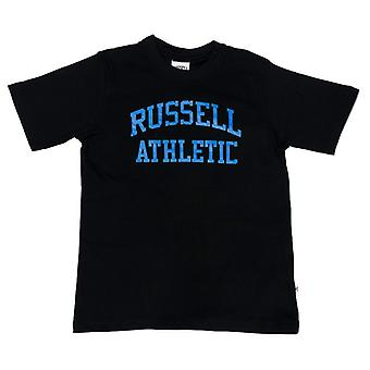 Boy's Russell Athletic Crew Neck T-Shirt in Black