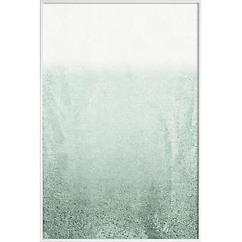 JUNIQE Print - Bleknande grön eukalyptus - abstrakt & geometrisk affisch i grönt