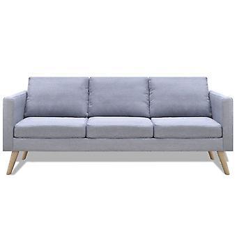 vidaXL Sofá de 3 plazas tejido gris claro