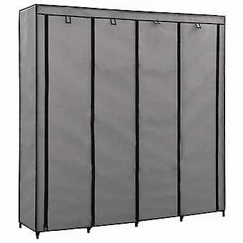 vidaXL garderobe met 4 vakken grijs 175 x 45 x 170 cm