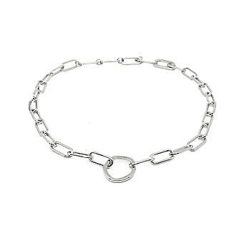Boho betty eternity silver chunky chain necklace