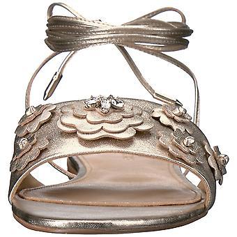 Ivanka Trump Womens Catera Leather Open Toe Casual Slide Sandals