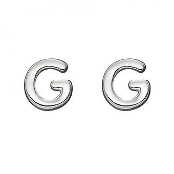 Beginnings Initial G Sterling Silver Stud Earrings E6024