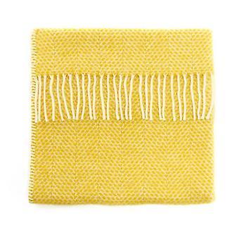 الفاخرة الصوف الجديد برام بطانية في خلية النحل الأصفر