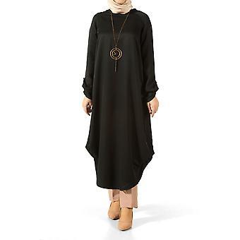 Viscose Sleeve Skirt Pleated Loose Tunic