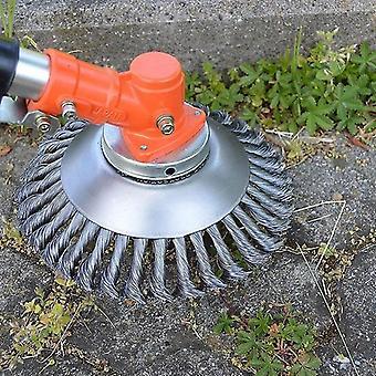 新しい鋼線トリマーヘッド丸みを帯びたエッジ雑草トリマーヘッドグラスブラシsm34617