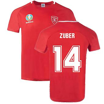 Switzerland 2021 Polyester T-Shirt (Red) (ZUBER 14)